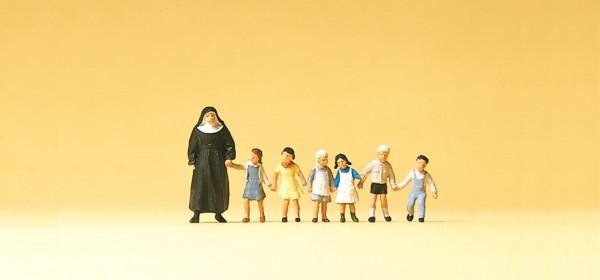 Preiser 75029 - Nonne und Kinder
