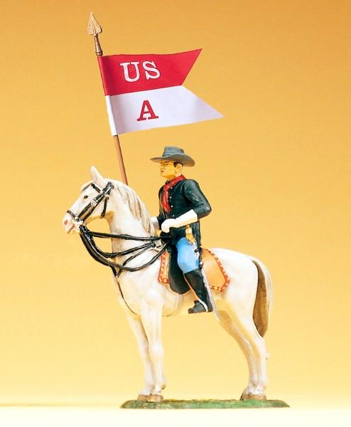 Preiser 54754 - 1:25 - Soldat zu Pferd mit Fahne