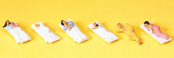 Preiser 10300 - H0 - Liegende Fahrgäste für Schlafwagen