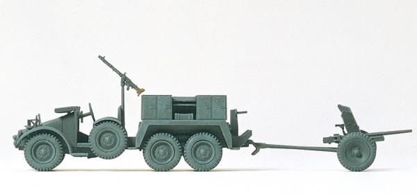 Preiser 16553 - H0 - Protzkraftwagen Kfz 69 Krupp 3,7 cm PAK L/45