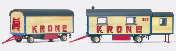 Preiser 21051 - H0 - Wohnwagen & Bausatz
