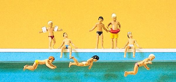Preiser 10307 - H0 - Kinder im Schwimmbad