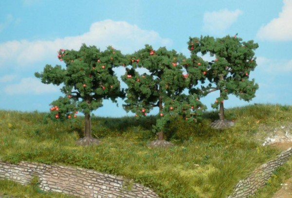 Heki 1160 - 3 Apfelbäume, 8 cm
