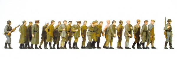 Preiser 16577 - H0 - Russische Kriegsgefangene, 22 Figuren, unbemalt
