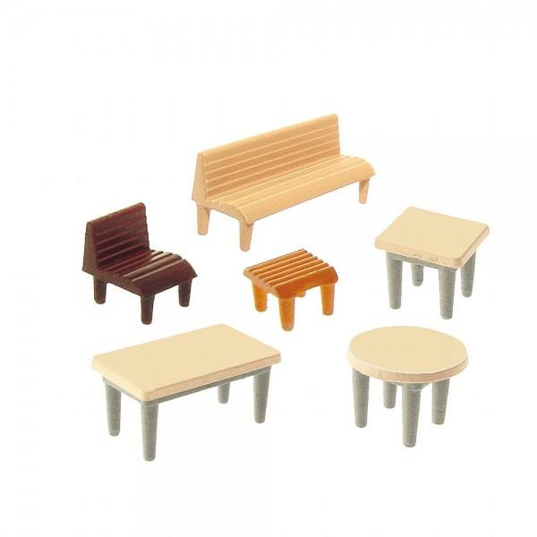 Faller 272440 - N - Tische, Stühle, Bänke