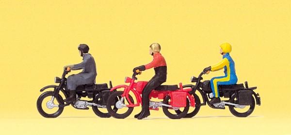 Preiser 10081 - H0 - Motorradfahrer auf Herkules