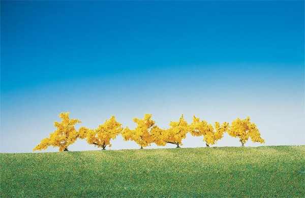 Faller 181475 - 6 Forsythien gelb blühend, 40 mm
