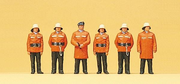 Preiser 10214 - H0 - Feuerwehrmänner, Schutzanzug