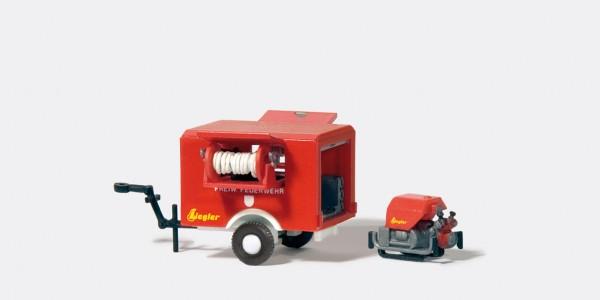 Preiser 31112 - H0 - Tragkraftspritzenanhänger ZIEGLER