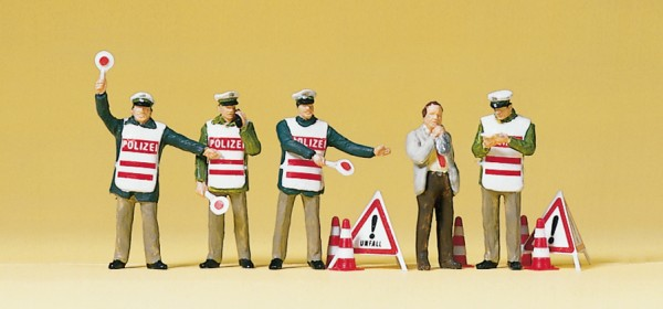 Preiser 10419 - H0 - Polizisten mit Warnweste