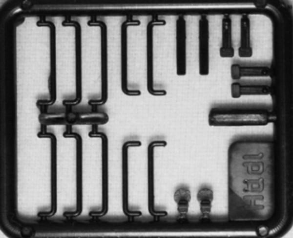 Hädl 912001-02 - TT - Zurüstteile für gedeckte Güterwagen schwarz
