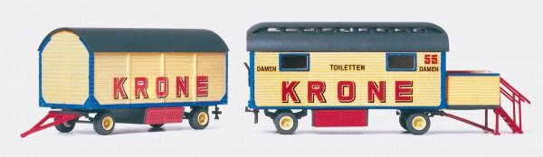 Preiser 21052 - H0 - Damentoilette & Packwagen