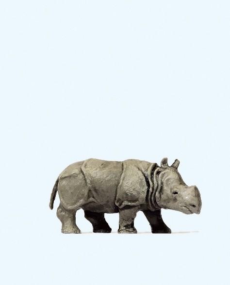 Preiser 29503 - Junges Indisches Panzernashorn
