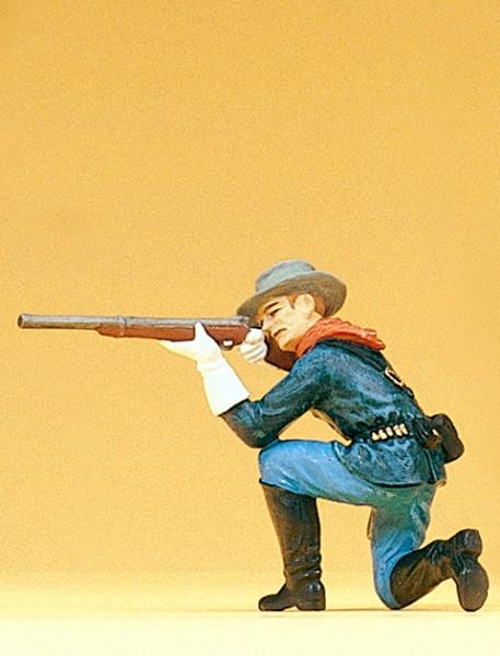 Preiser 54752 - 1:25 - Soldat kniend mit Gewehr