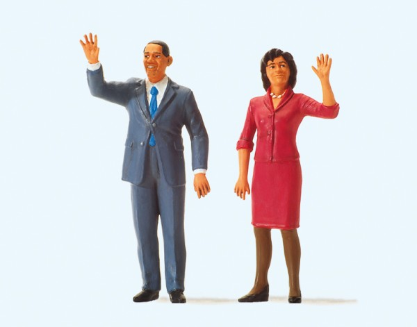 Preiser 57152 - 1:24 - President Obama and The First Lady