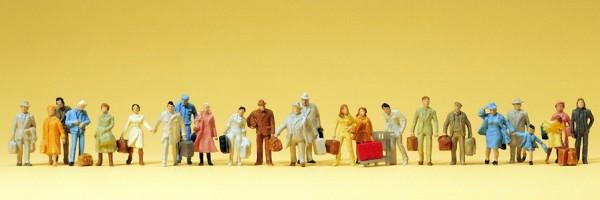 Preiser 14401 - H0 - Stehende und gehende Reisende, 24 Figuren, handbemalt