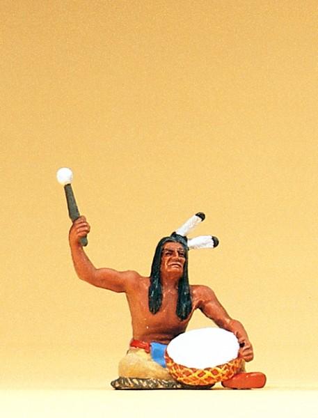 Preiser 54619 - 1:25 - Indianer sitzend mit Trommel