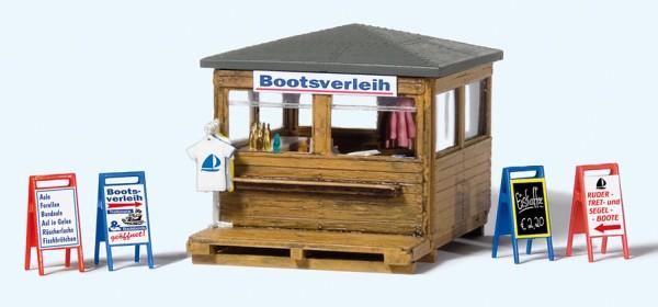 Preiser 17314 - H0 - Kiosk mit Bootsverleih