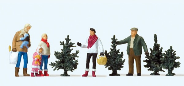 Preiser 10627 - H0 - Weihnachtsbaumverkauf