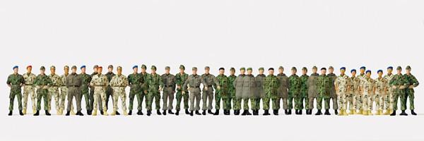 Preiser 16543 - H0 - Soldaten gehend und stehend