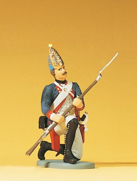 Preiser 54150 - 1:24 - Grenadier kniend mit Gewehr