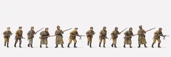 Preiser 16600 - H0 - Angreifende Infanterie, Winteruniform