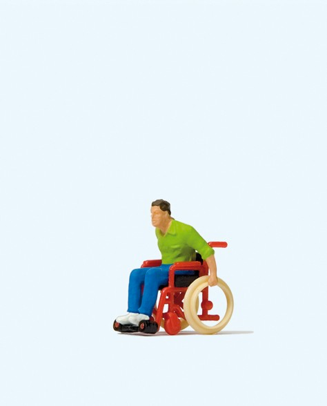 Preiser 28164 - H0 - Rollstuhlfahrer
