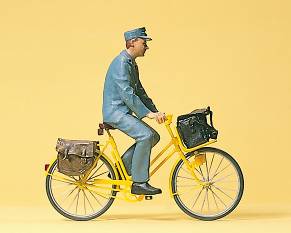 Preiser 45069 - G - Postbote mit Fahrrad