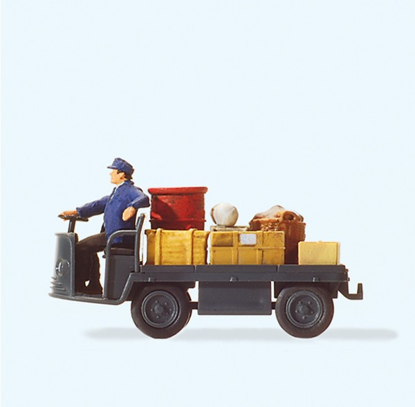 Preiser 28147 - H0 - Elektrokarre mit Fahrer, DB