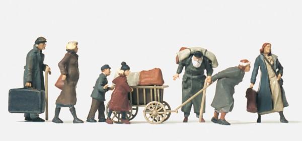 Preiser 16558 - H0 - Flüchtlinge, 7 unbemalte Figuren