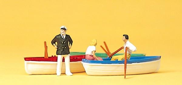 Preiser 10072 - H0 - Bootsverleih mit 3 Booten