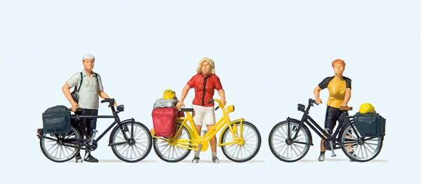 Preiser 10643 - Stehende Fahrradfahrer in sportlicher Kleidung (1)