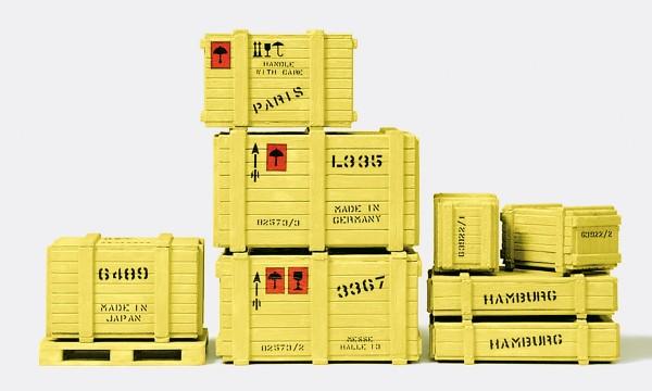 Preiser 45200 - Ladegut 8 Kisten, 1 Palette