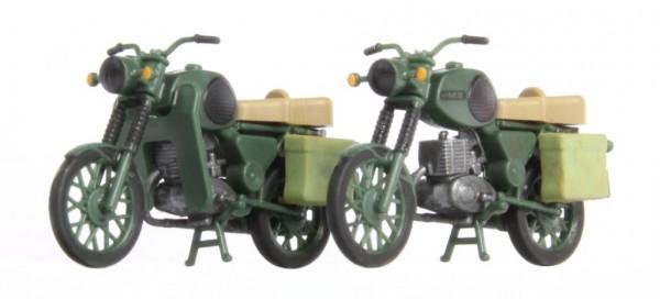 Kres 10271 - H0 - 2x MZ TS 250 NVA Komplettmodelle