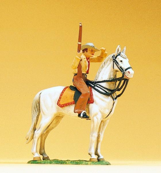 Preiser 54820 - 1:25 - Cowboy zu Pferd mit Gewehr