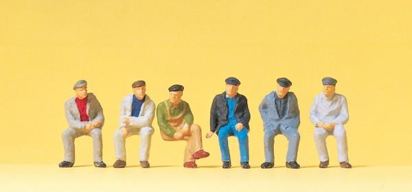 Preiser 14084 - H0 - Sitzende Arbeiter