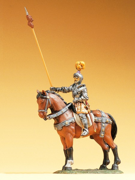 Preiser 52354 - Herold zu Pferd mit Lanze