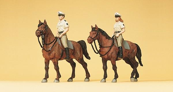 Preiser 10389 - H0 - Berittene Polizisten in Sommeruniform