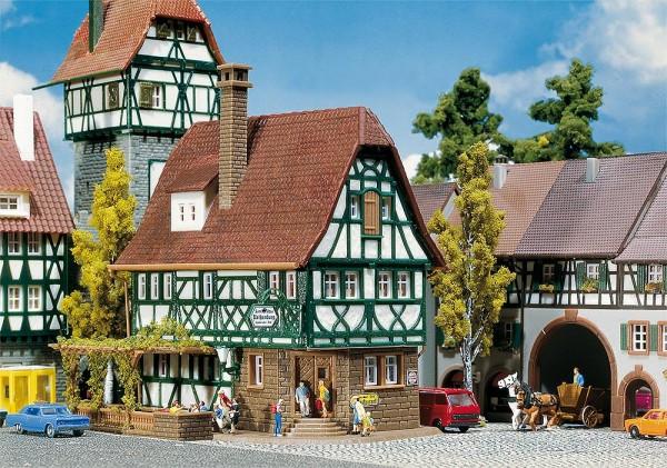 Faller 232282 - N - Gasthof Rothenburg, 11,7 x 8,3 x 10,0 cm