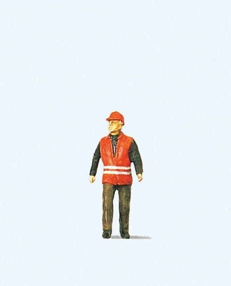 Preiser 28008 - Bahnarbeiter mit Warnweste