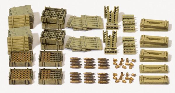 Preiser 16603 - H0 - Munition und Munitionskisten