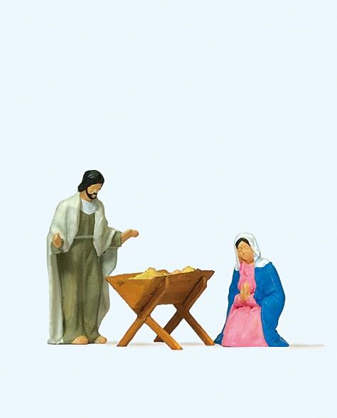 Preiser 29091 - H0 - Maria und Josef mit Krippe
