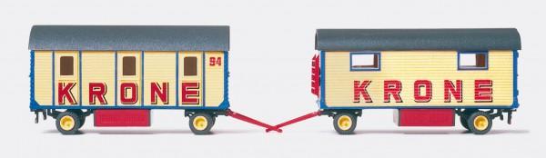 Preiser 21050 - H0 - Mannschaftswagen mit 3 Abteile & Packwagen