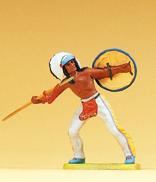 Preiser 54609 - 1:25 - Indianer Speer werfend