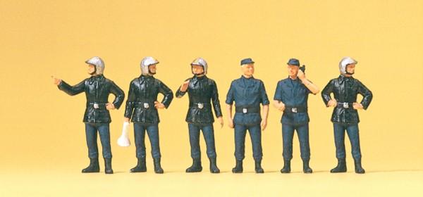 Preiser 10232 - H0 - Feuerwehrmänner Frankreich