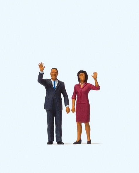 Preiser 28144 - President Obama and The First Lady