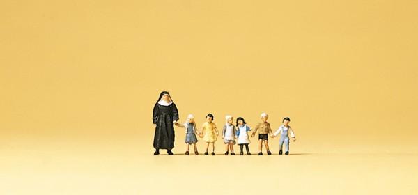 Preiser 79127 - Nonne & Kinder
