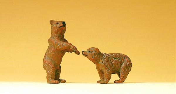 Preiser 47518 - 1:25 - 2 junge Braunbären