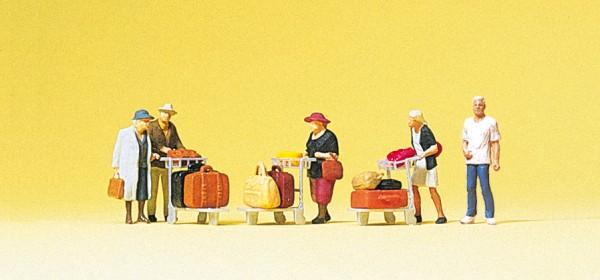 Preiser 75033 - TT - Reisende mit Kofferkulis