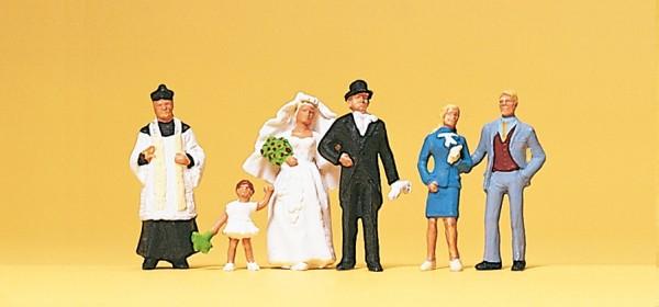 Preiser 10058 - H0 - Brautpaar katolischer Geislicher